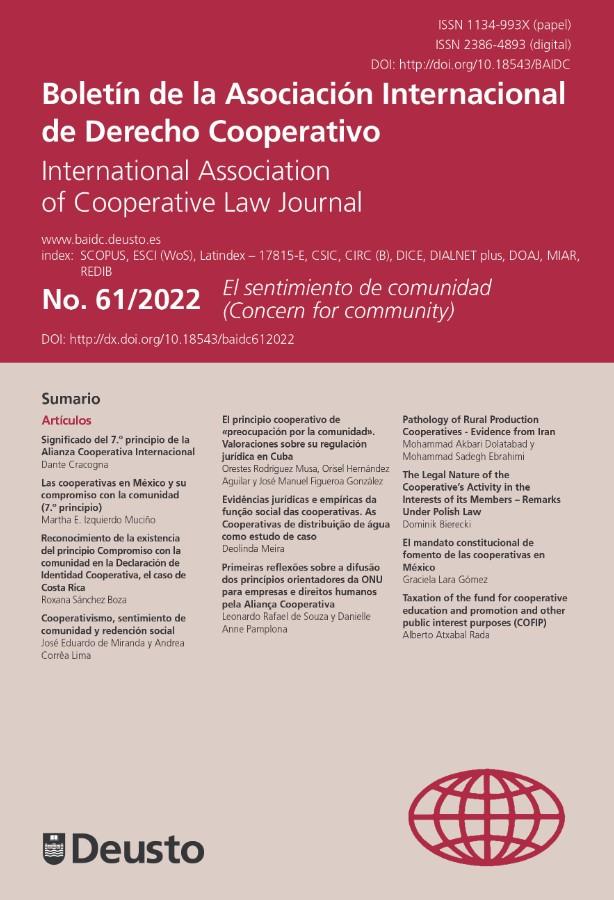 Boletín de la Asociación Internacional de Derecho Cooperativo